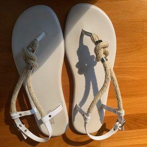 Brand new White Michael Kors sandals